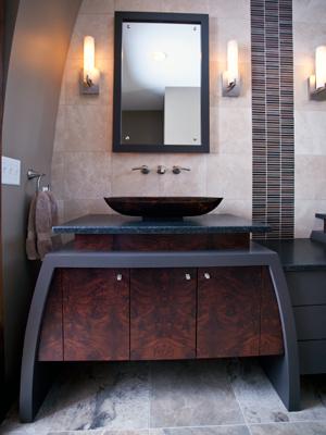 Award-Winning Eclectic Master bath vanity