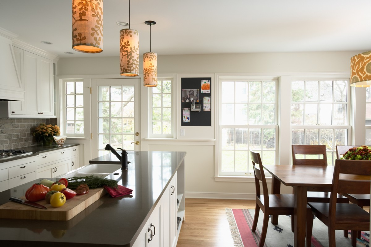 <p>Light colors and large windows make the new kitchen a beautiful place to cook or entertain.</p>