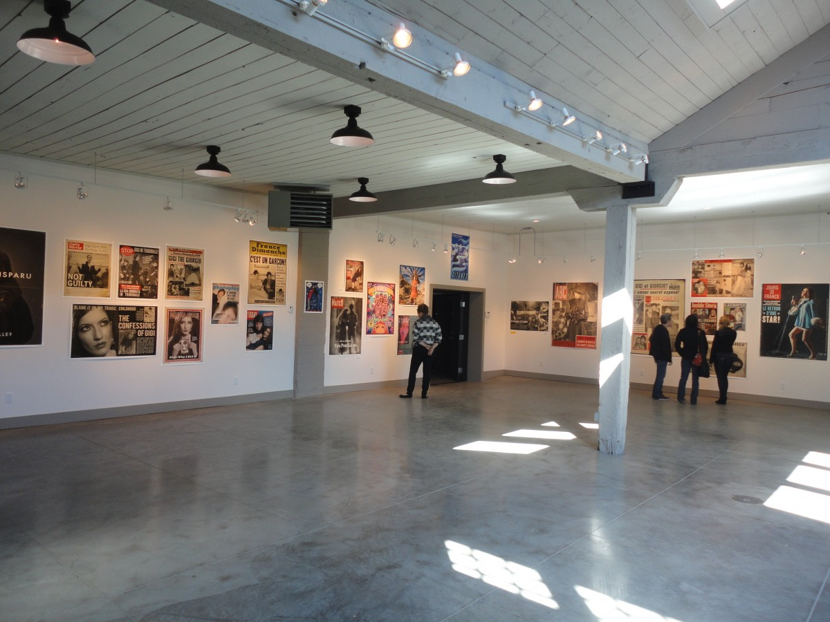 The art gallery portion of the space in use.
