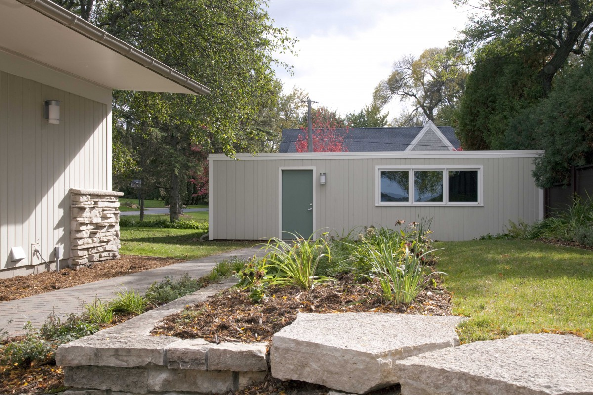 <p>The garage echoes the home's newfound personality.</p>