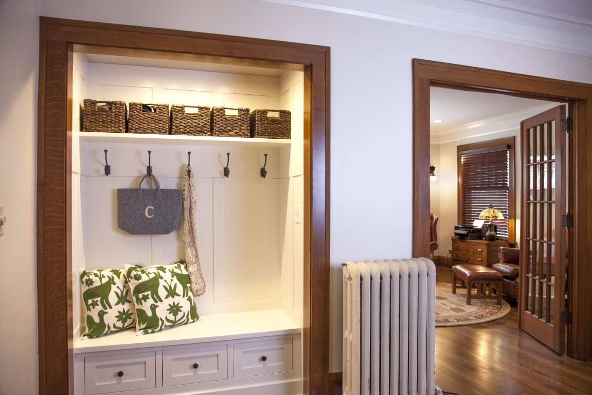<p>The front entry closet was also given a stylish makeover – now it's a welcoming, functional nook with lots of personality.</p>