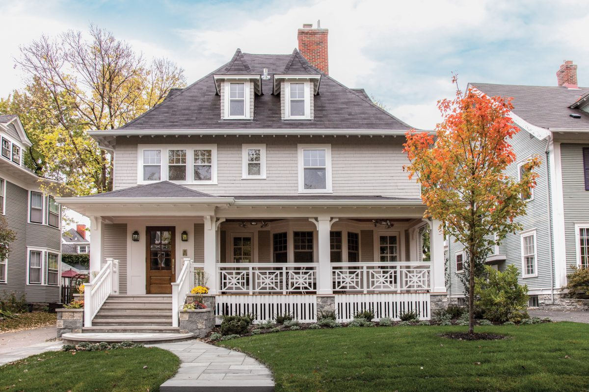 <p>This beautiful home was starting to look its age when the home owners looked for help on a this remodel.  Built-in stone planters and limestone accent the new porch.</p>