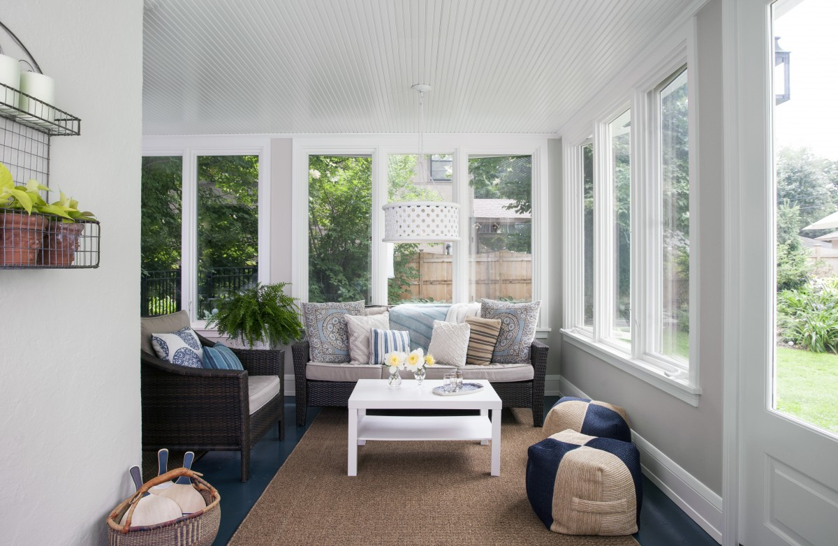 Keeping in mind the owner's wish to bring the outside in, oversized windows allow for natural light throughout the day and an inviting space for family and friends to gather.
