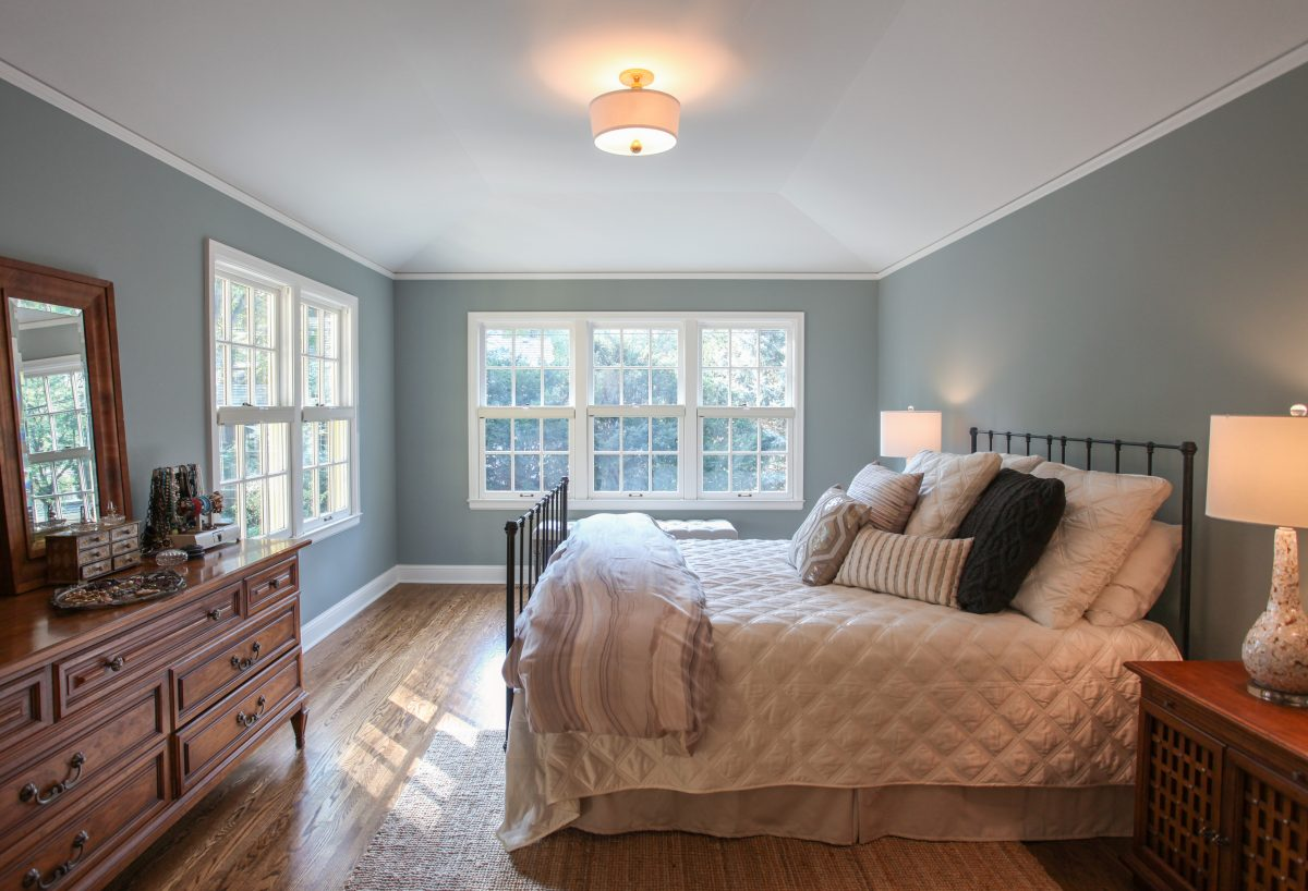 <p>The large existing master bedroom on the south end of the house was converted into two smaller rooms to create more bedrooms. The final design resulted in having three bedrooms on the second floor, in addition to the master suite.</p>