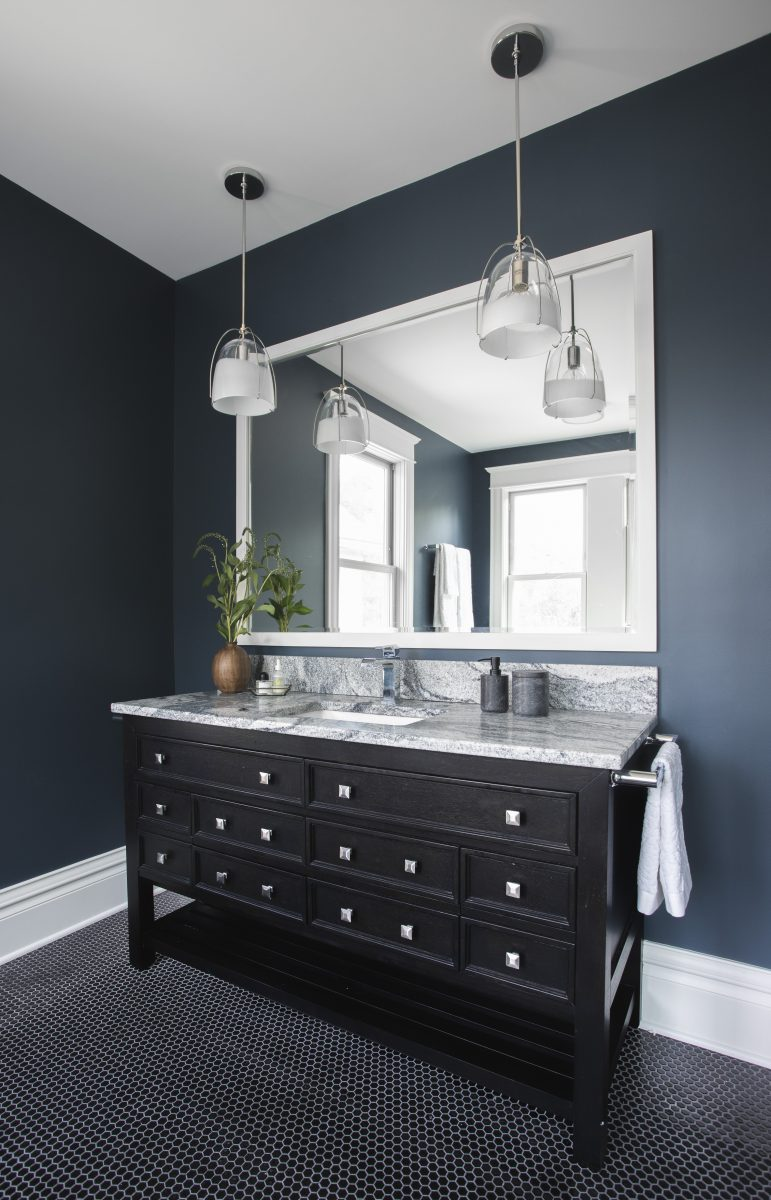 <p>These clients wanted to combine a tiny office and a cramped full bath to make a spacious master suite fit for a king. Now, this vast bathroom has traditional and modern elements that create a mood that is tranquil with plenty of natural light.</p>