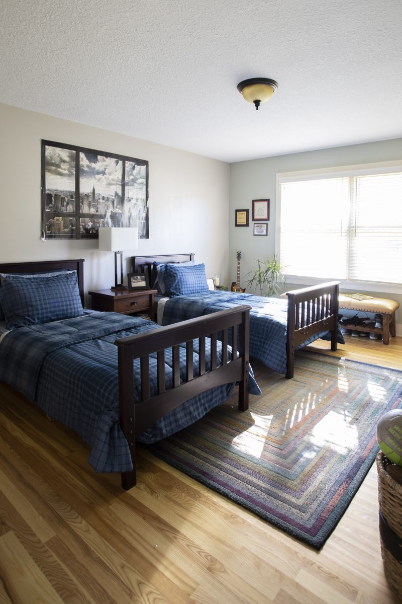 <p>The main floor bedroom was expanded creating a more generous space for their two sons while providing additional closet space.</p>
