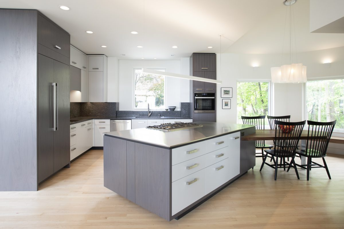 <p>The homeowners of this modern home in White Bear Lake built their home 25 years ago but the kitchen needed to be reworked to allow them to age in place.</p>